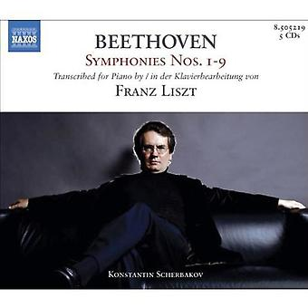 Lizst/Beethoven - Beethoven Symphonies Nos. 1-9 Transcribed by Liszt [Box Set] [CD] USA import