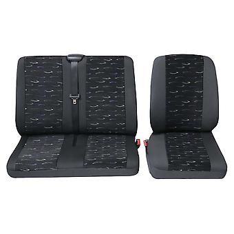 Commercial van single and double seat covers Fiat Scudo Van Seat Covers - Blue