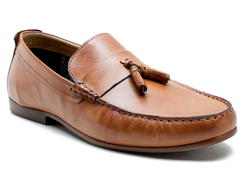 Bürokratie Elvaston Tan Leder Slipper Schuhe fahren