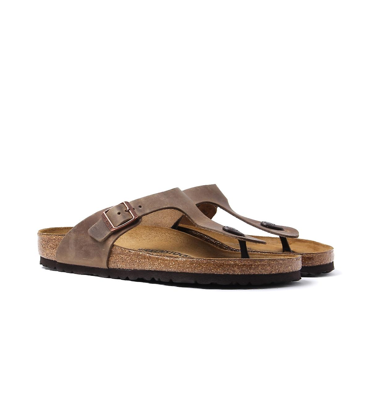 Birkenstock Tobacco Brown Leather Gizeh Sandal