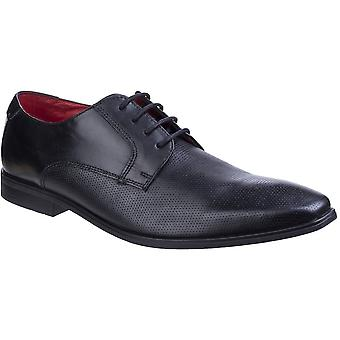 Base London Mens Charles Waxy Leather Smart Casual Derby Shoes