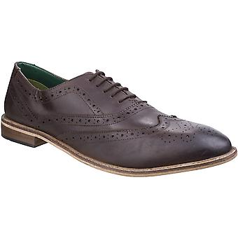 Lambretta Mens Scotts Brogue King Lace Up Leather Oxford Smart Shoes