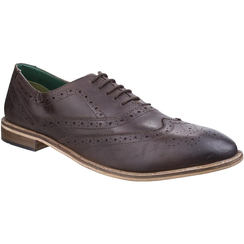 Lambretta Mens Scotts Brogue King Lace Up Leather Oxford Smart chaussures