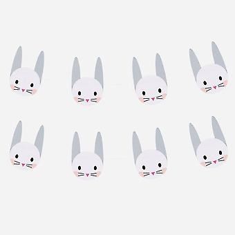 MINI RABBIT Paper Garland Bunting Easter Birthday Party 3m