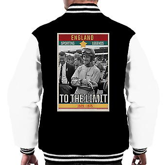 Sporting Legends Poster England Norman Graham Hill To The Limit 1929 To 1975 Men's Varsity Jacket