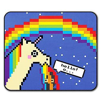Unicorn Cool Stupid Funny  Non-Slip Mouse Mat Pad 24cm x 20cm | Wellcoda