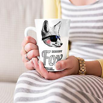 Fox beest grappige dieren geen nieuwe witte thee koffie keramische Latte Mok 17 oz | Wellcoda