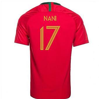 2018-2019 Portugal Home Nike Football Shirt (Nani 17) - Kids