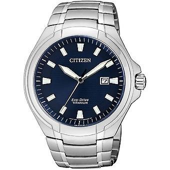 Citizen mens watch eco-drive titanium BM7430-89 L