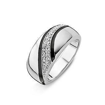 Orphelia Silver 925 Ring Diagonal Pave  Zirconium    ZR-3826