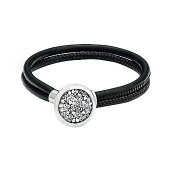 s.Oliver jewel ladies bracelet stainless steel leather SO984/1 - 463560