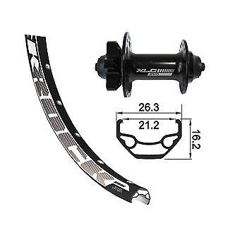 XLC 27, 5″ framhjul Rodi Black Rock skivan + XLC Evo 6-håls