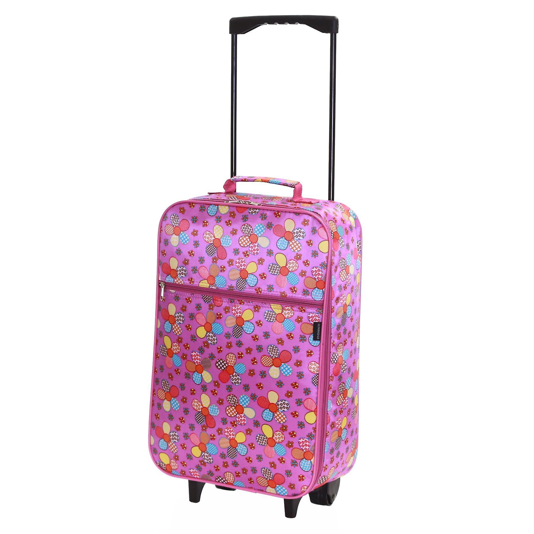Slimbridge Barcelona Kids Cabin Approved Bag, Lilac Flowers