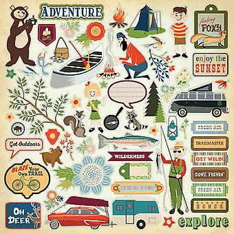 Great Outdoors Cardstock Stickers 12