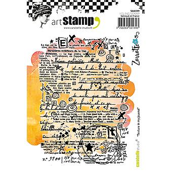 Carabelle Studio Cling Stamp A6 By Zorrotte-Texture In My Journal