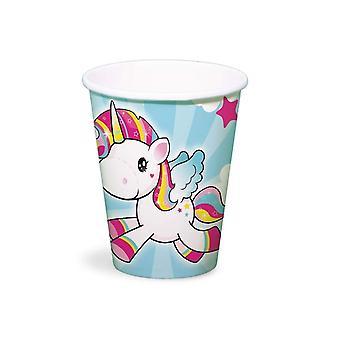 Unicorn party cups cups 250 ml 8 pieces Unicorn Unicorn party decoration