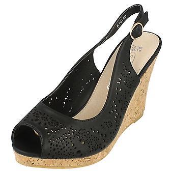 Spot de dames sur Liège haute plate-forme Wedge Sandals avec Peeptoe et élingue sangle