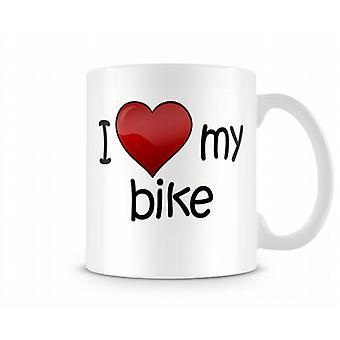 Ich liebe mein Bike bedruckte Becher