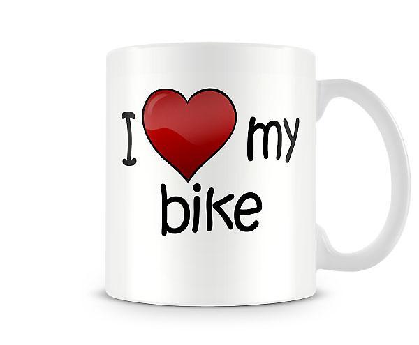 I Love My Bike Printed Mug