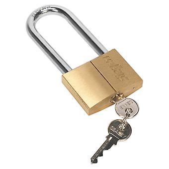 Sealey S0991 Brass Body Padlock With Brass Cylinder Long Shackle 60Mm