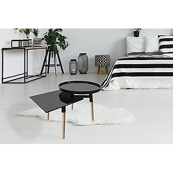 TABLES COFFEE TABLE WITH SHELF SIDE TABLE COFFEE TABLE COFFEE TABLE BLACK