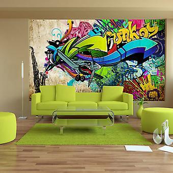 Tapet - Funky - graffiti