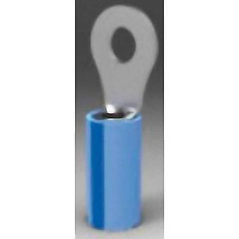 TE conectividad 328999 anillo terminal transversal (max.) = mm² 2.602 agujero Ø = 9,91 mm parcialmente aislado azul 1 PC
