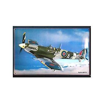 Spitfire Mkvb Embossed Metal Sign