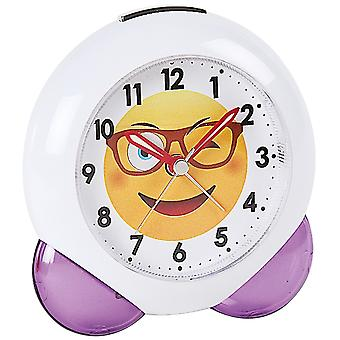 Atlanta 1918/8 alarm clock quartz analog for children children alarm clock white purple