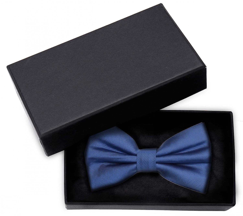 Fly blue structured uni loop Fabio Farini noble shine bow tie