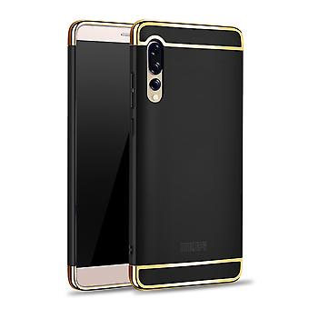 Cell phone cover case for Huawei P20 Pro bumper 3 in 1 cover chrome case black