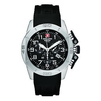Swiss Alpine Military Herren Uhr Chrono 7063.9837SAM Silikon