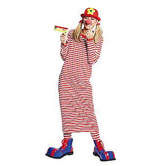 Rivel-Shirt langarm garngefärbt rot/weiss Longshirt Clownshirt Kostüm für Herren