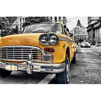 New York poster taxi yellow cab No.. 1 Manhattan, United States.