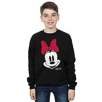 Disney Boys Minnie Mouse Distressed Face Sweatshirt