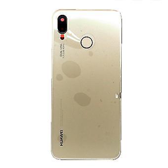 Prawdziwy złoty Huawei P20 Lite tylnej pokrywy 02351WTG