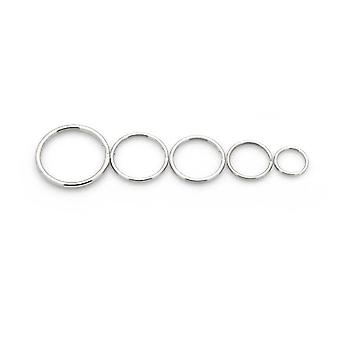 Packet 175+ Silver Plated Iron Round Split Rings 4-10mm HA11740