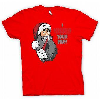 Mens T-skjorte jeg kysset din mor - morsomme Santa