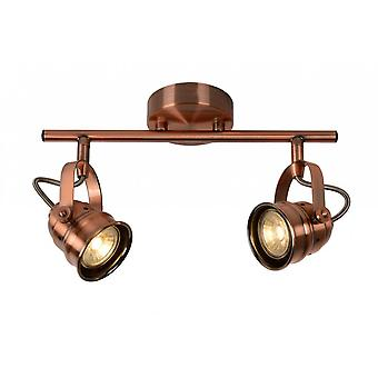 Lucide Cigal Cottage Rectangle Metal Copper Ceiling Spot Light