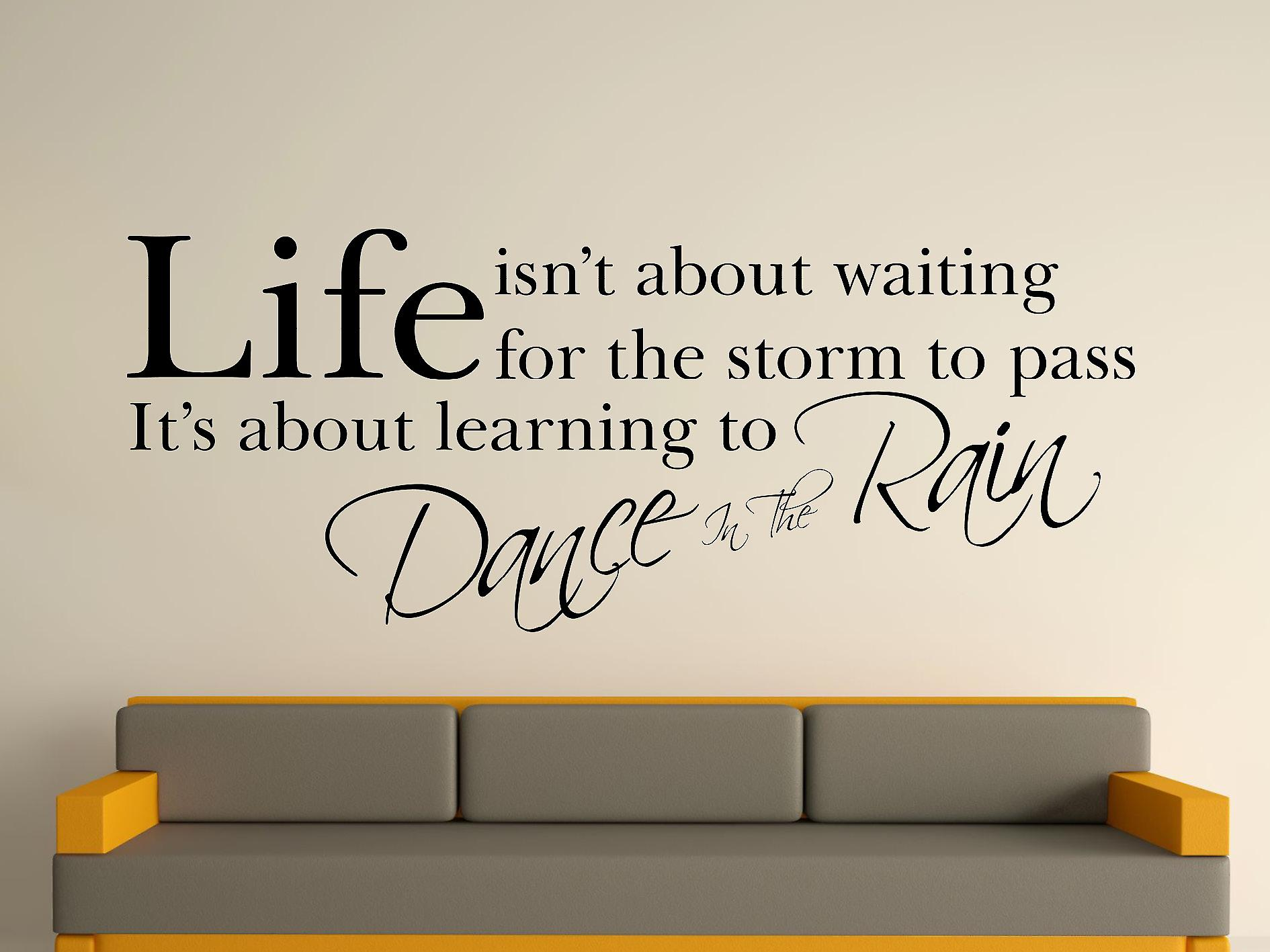 Dance In The Wall Sticker Art de pluie - Noir