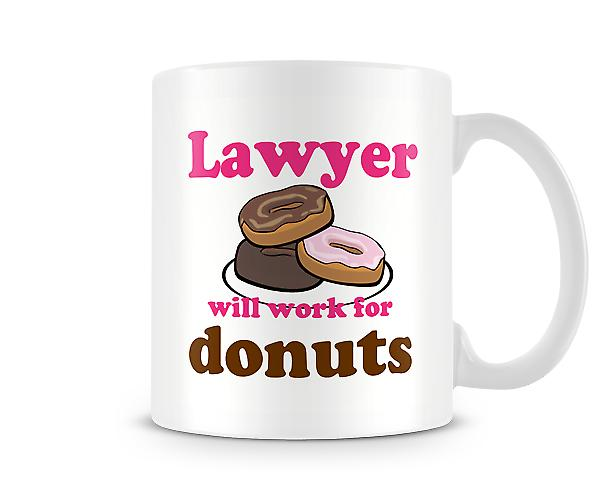Lawyer Work For Donuts Mug