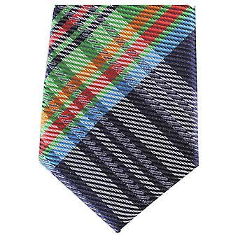 Knightsbridge Neckwear Tartan Skinny Polyester Tie - Navy/Green/Red