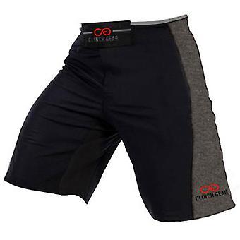 Clinch Gear Mens Signature MMA Wrestling Advantage Shorts - Black/Gray/Red