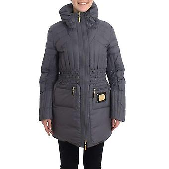 Roccobarocco Gray Padded Down Jacket Padded Coat -- SIG1765893