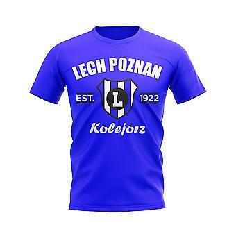 Lech Poznan Established Football T-Shirt (Royal)