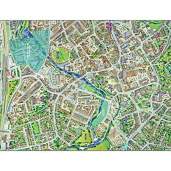Cityscapes Street Map Of Taunton 400 Piece Jigsaw Puzzle 470mm x 320mm (hpy)