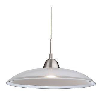Firstlight-LED 1 ljus tak hänge borstat stål, glas-8376BS