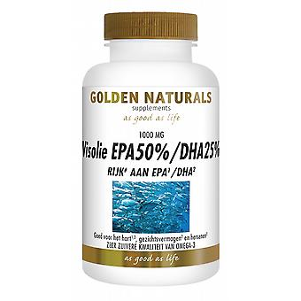 EPA50% DHA25% Golden Naturals fish oil 60 caps.
