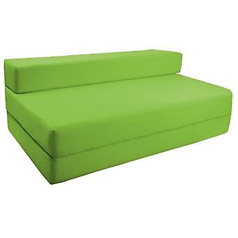 Water Resistant Fold Out Double Z Bed Sofa - Lime