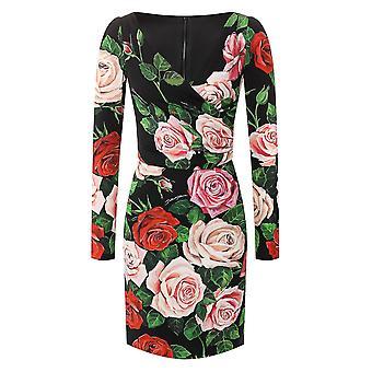 Dolce E Gabbana Multicolor Silk Dress